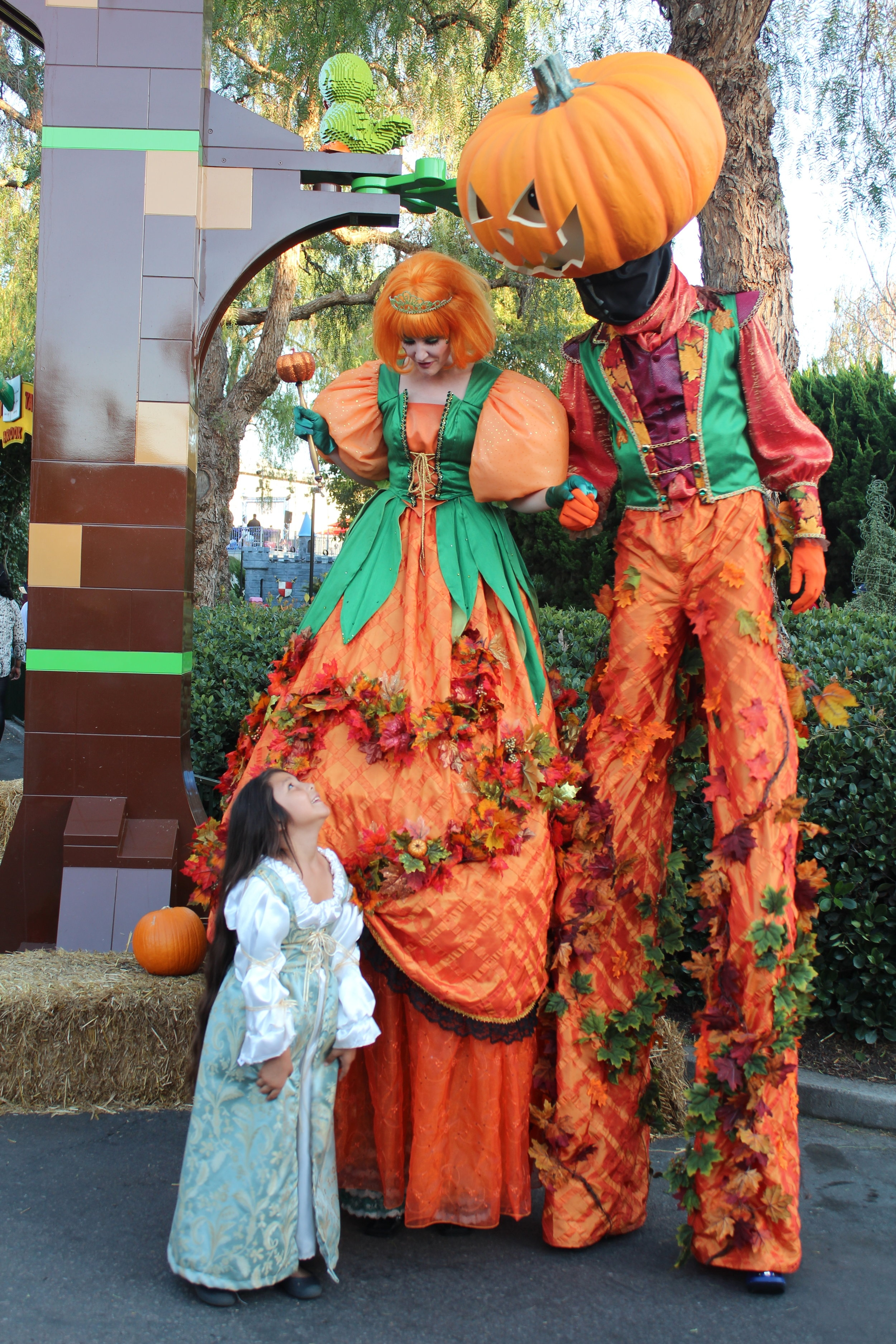 The Pumpkin King and Queen and their royal subject!