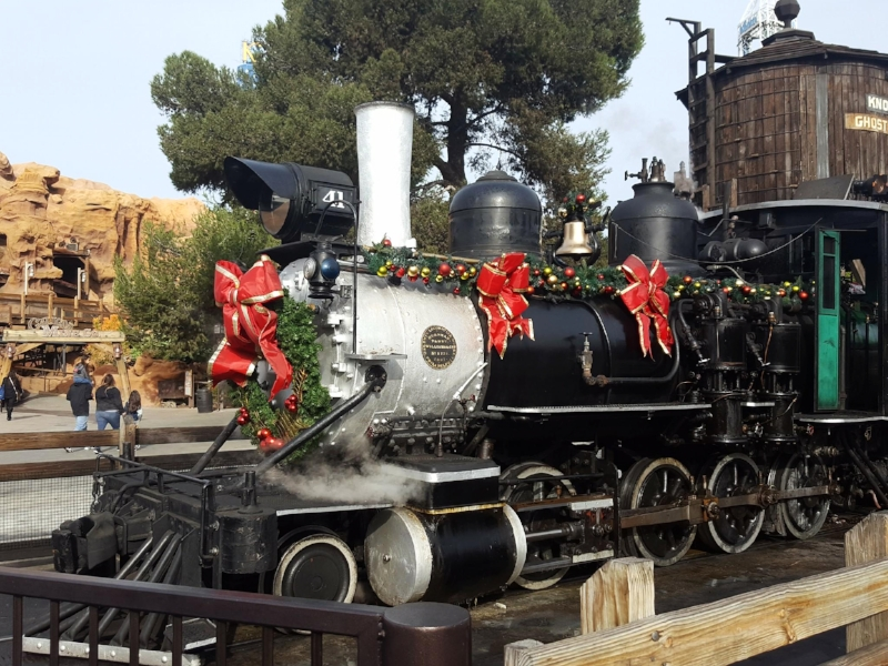 The Iconic Knott's Railroad All Dressed up for Merry Farm
