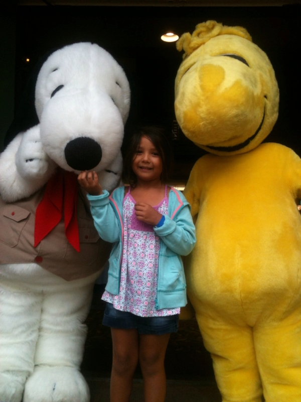 Celebrating with Snoopy and Woodstock during the 30th Anniversary of Camp Snoopy