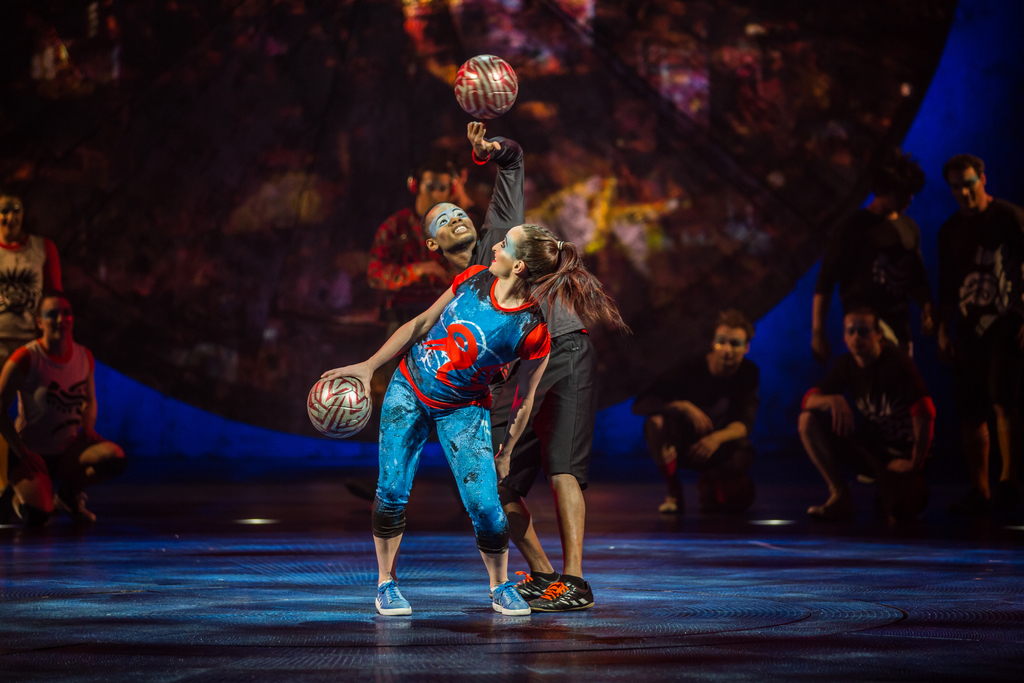Ponce and Laura Biondo doing their dance!Photo Credit: Cirque Du Soleil