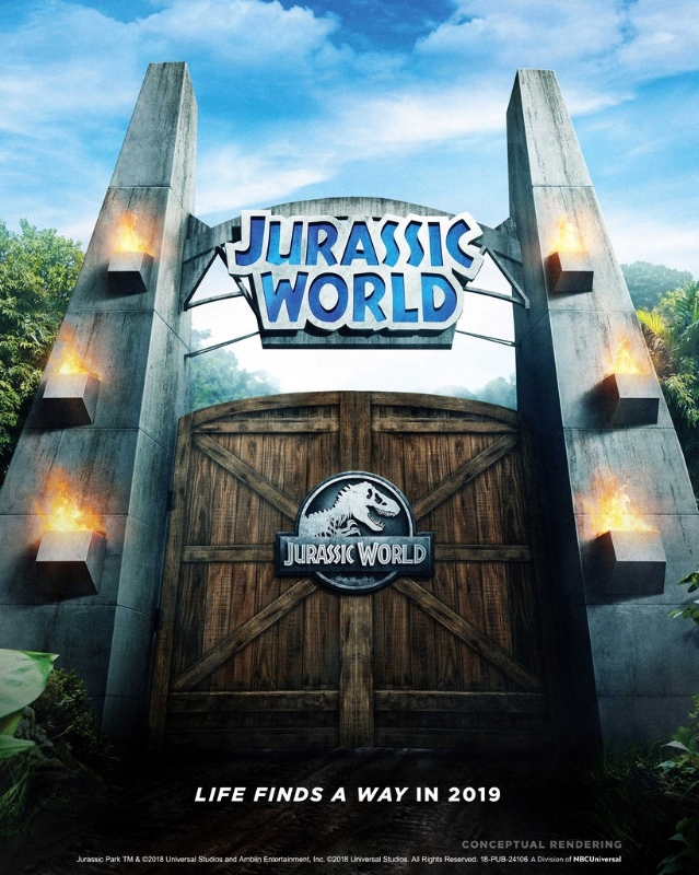 Jurassic World Ride Opening in 2019 at Universal Studios Hollywood