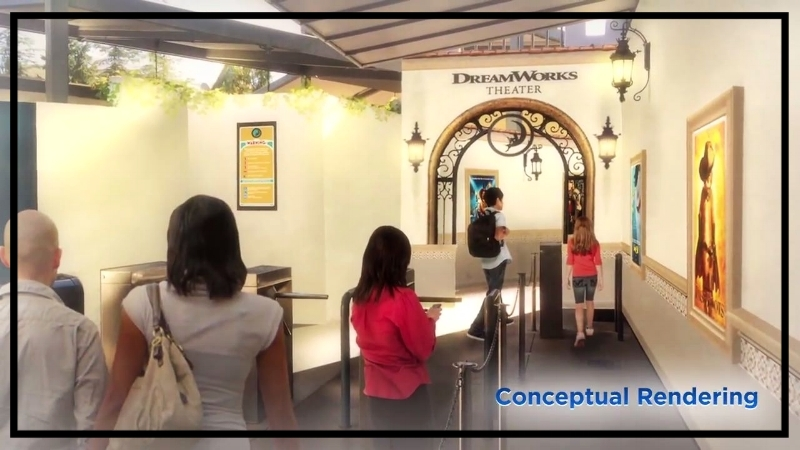 Entrance to DreamWorks Theatre Via Universal Studios Hollywood