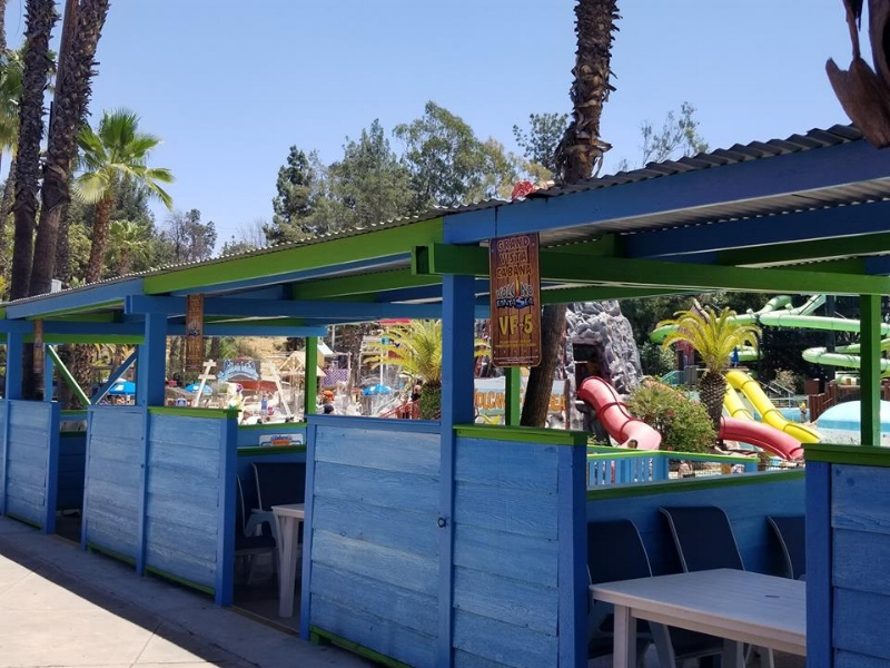 Private cabanas are literally steps to the sandy beach and Splash areas for the smaller kids!