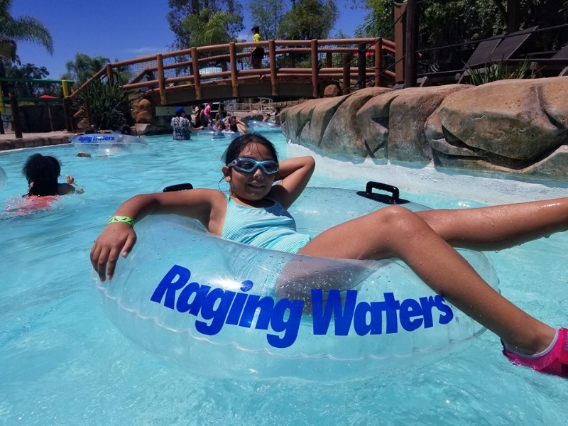 Lazy River was one of our favorite spots at Raging Waters and it's a big one!