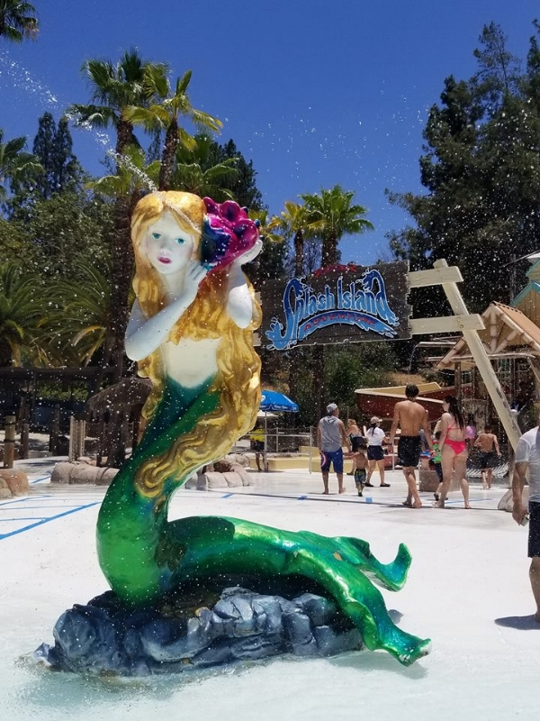 Splash Island, perfect place to cool off and play!