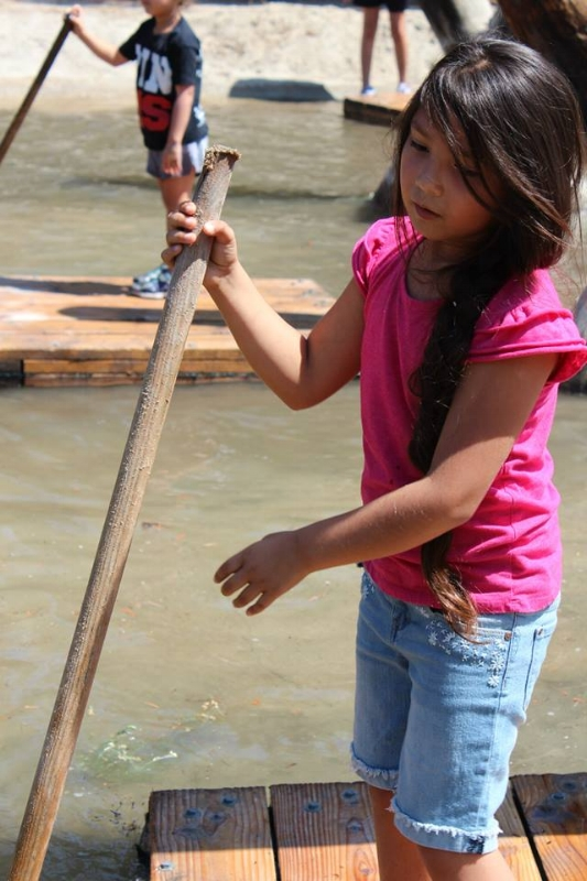 Balance and a little upper body strength to maneuver your own raft, great exersize
