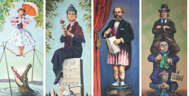 Original Stretching Room Paintings Photos courtesy of Van Eaton Galleries.