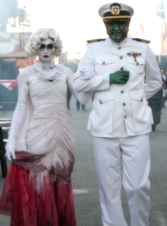 Dashing couple, don't you agree? Captain and Gorgeous Gale at Dark Harbor