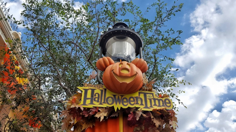 Example of Disneyland Banners for Halloween Time