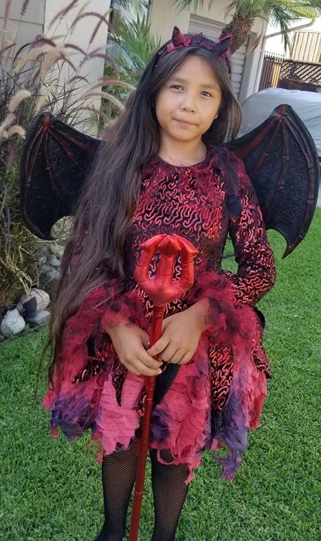 Punk Devil Costume For Girls Item 834952