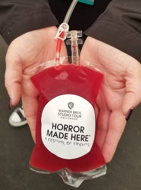 Get your fix! Blood Bag Cocktail for the undead $16 and they pack a huge punch!
