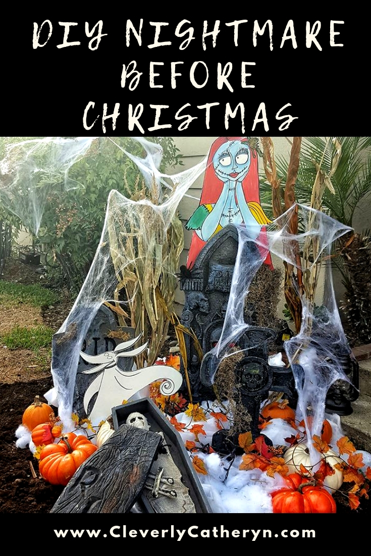 DIY Nightmare Before Christmas Halloween Lawn Decor (c) Cleverly Catheryn-2.jpg
