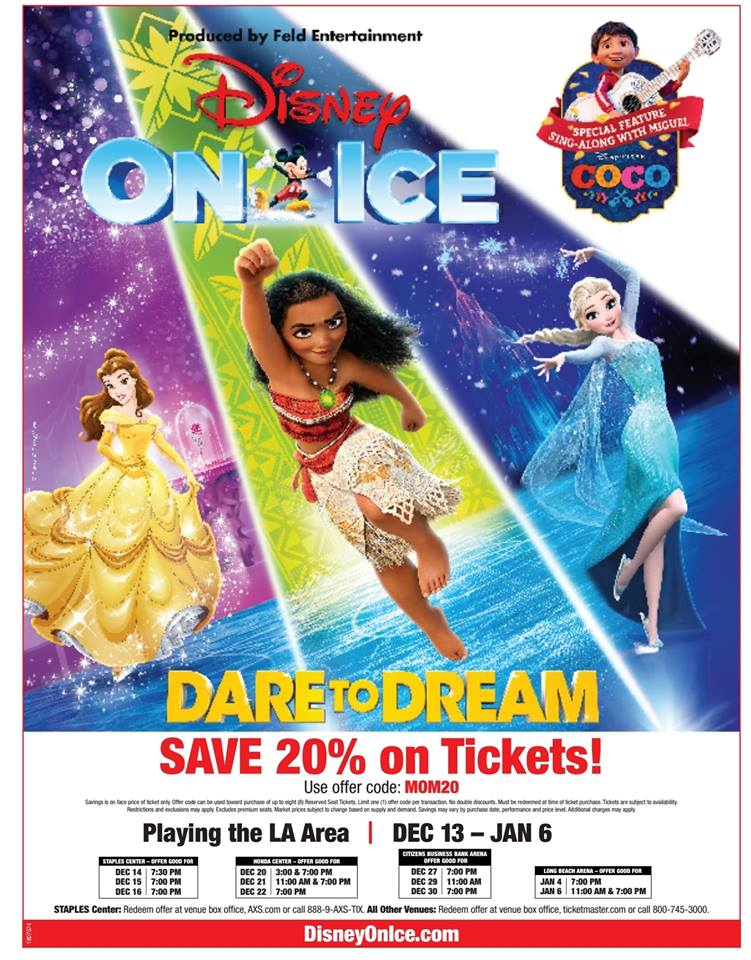MOM Flyer discounted Disney On Ice Tickets