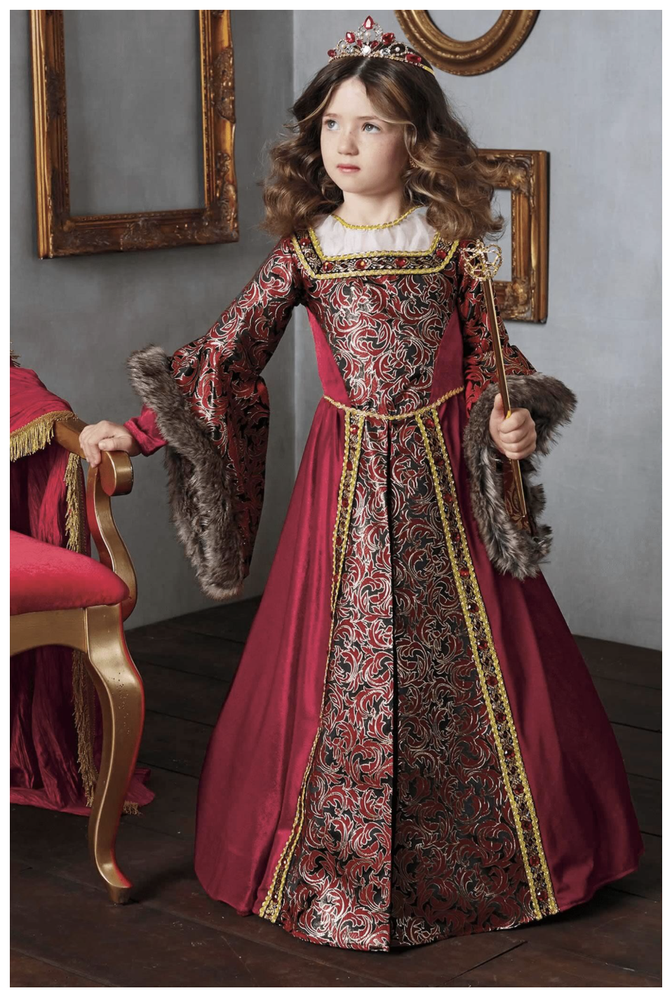 Queen Isabella Costume For Girls Item 850648  Available in sizes 6-16