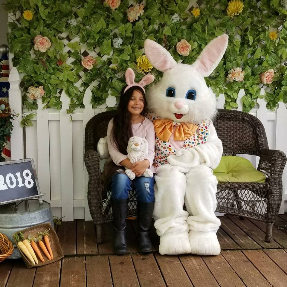Picture with the Easter Bunny at Irvine Park Railroad $12 and includes a print (c) Cleverly Catheryn