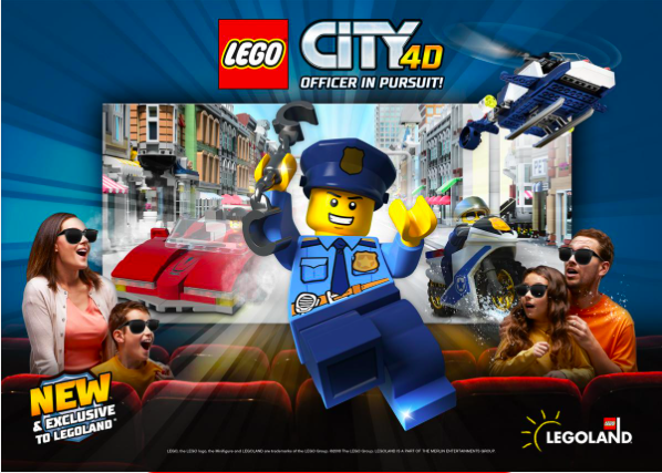 Lego City 4D Officer in Pursuit at Legoland California