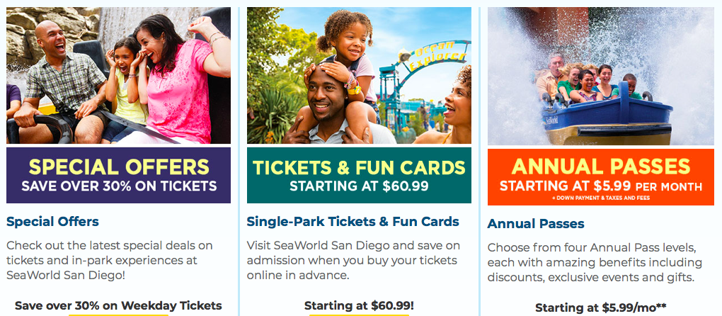 Get discounts on single day admission or annual passes