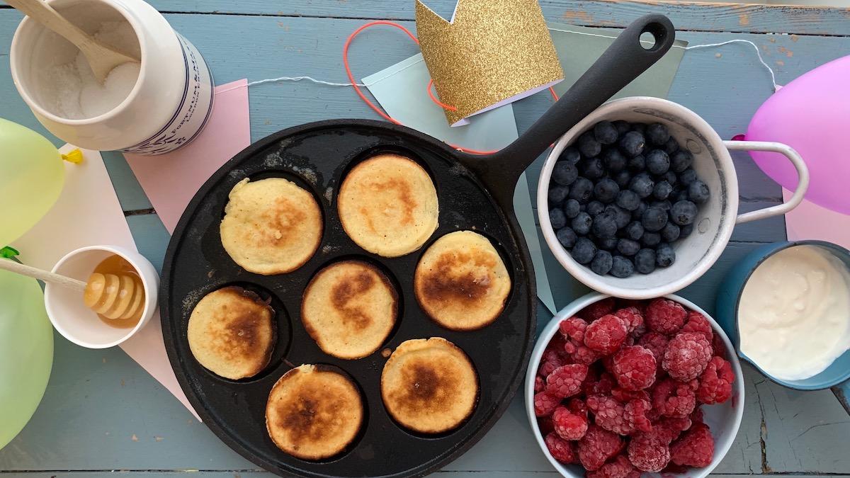 Med en pannekakebuffet kan du være sikker på at alle finner noe de liker.