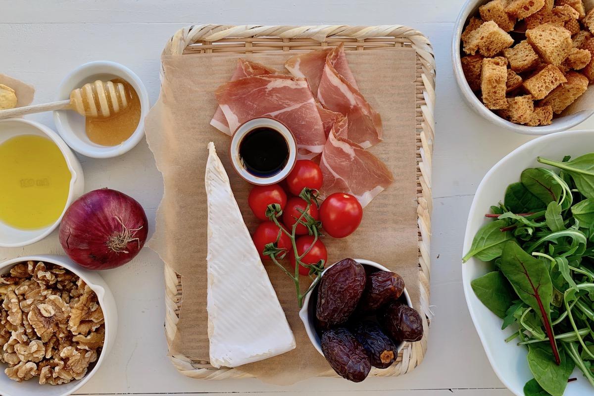 Dette trenger du for å lage en deilig salat. Foto: Familiematblogg