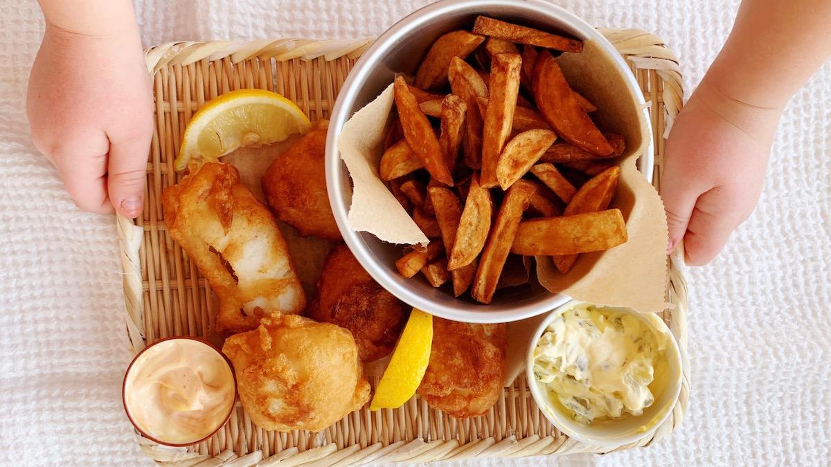 Middagen er servert! Foto: Familiematblogg