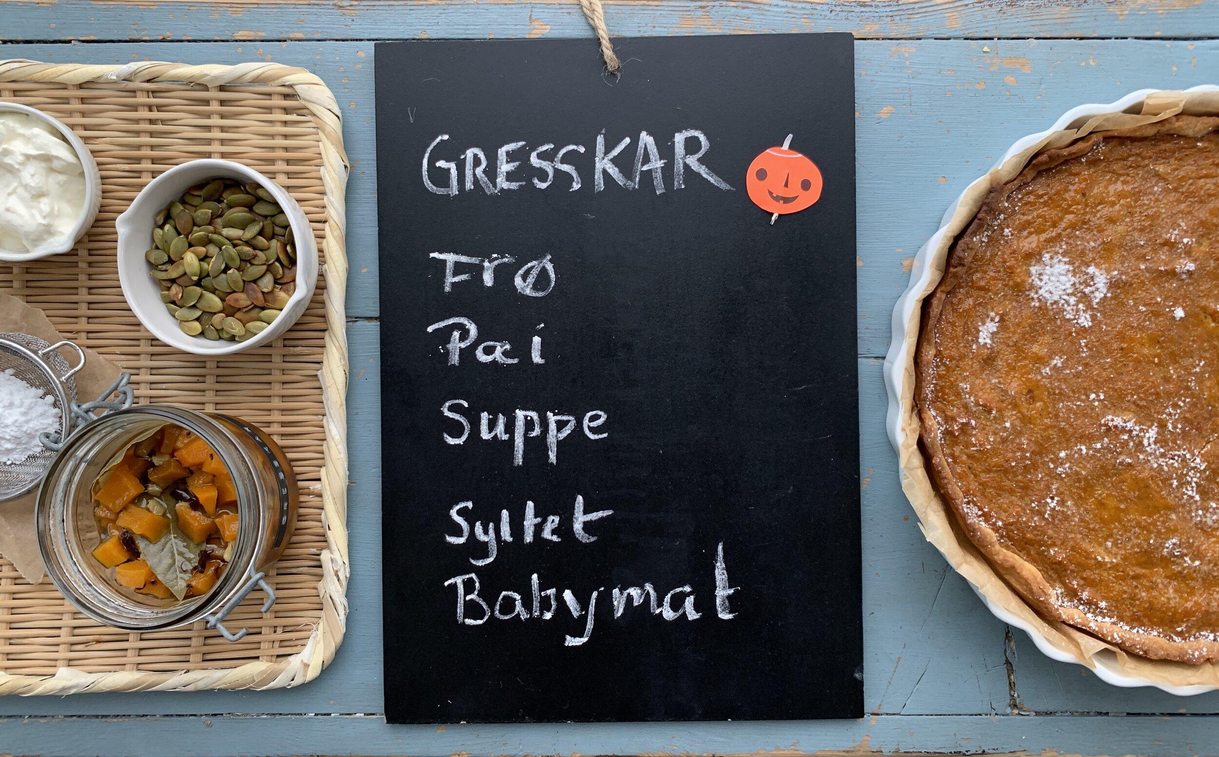 Gresskar er en takknemlig frukt å lage mat med. Den milde og runde smaken gjør at den egner seg perfekt i alt fra babymat til kaker.
