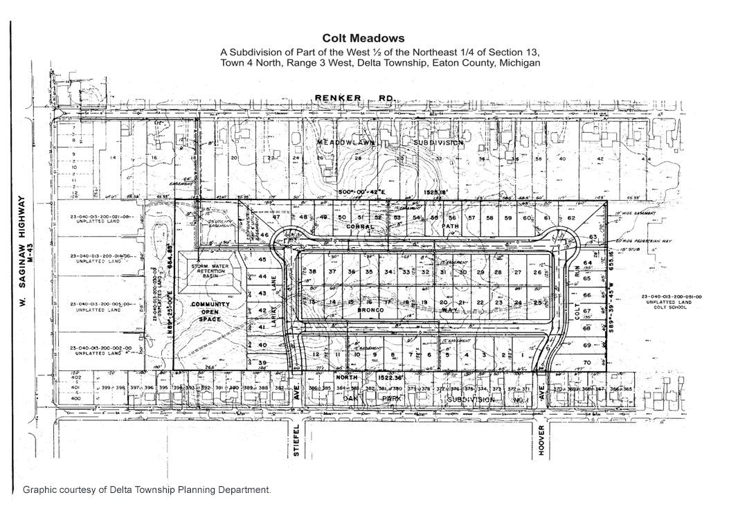 Figure 3.4: Platted Subdivision