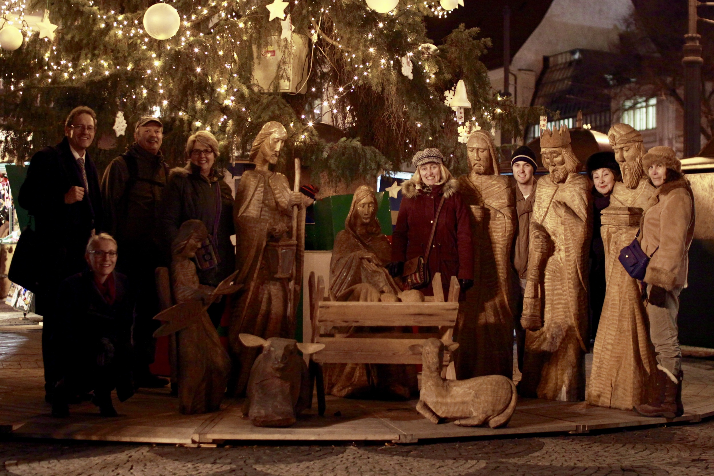 We gathered at the Christmas Markets for the 2nd week of Advent.