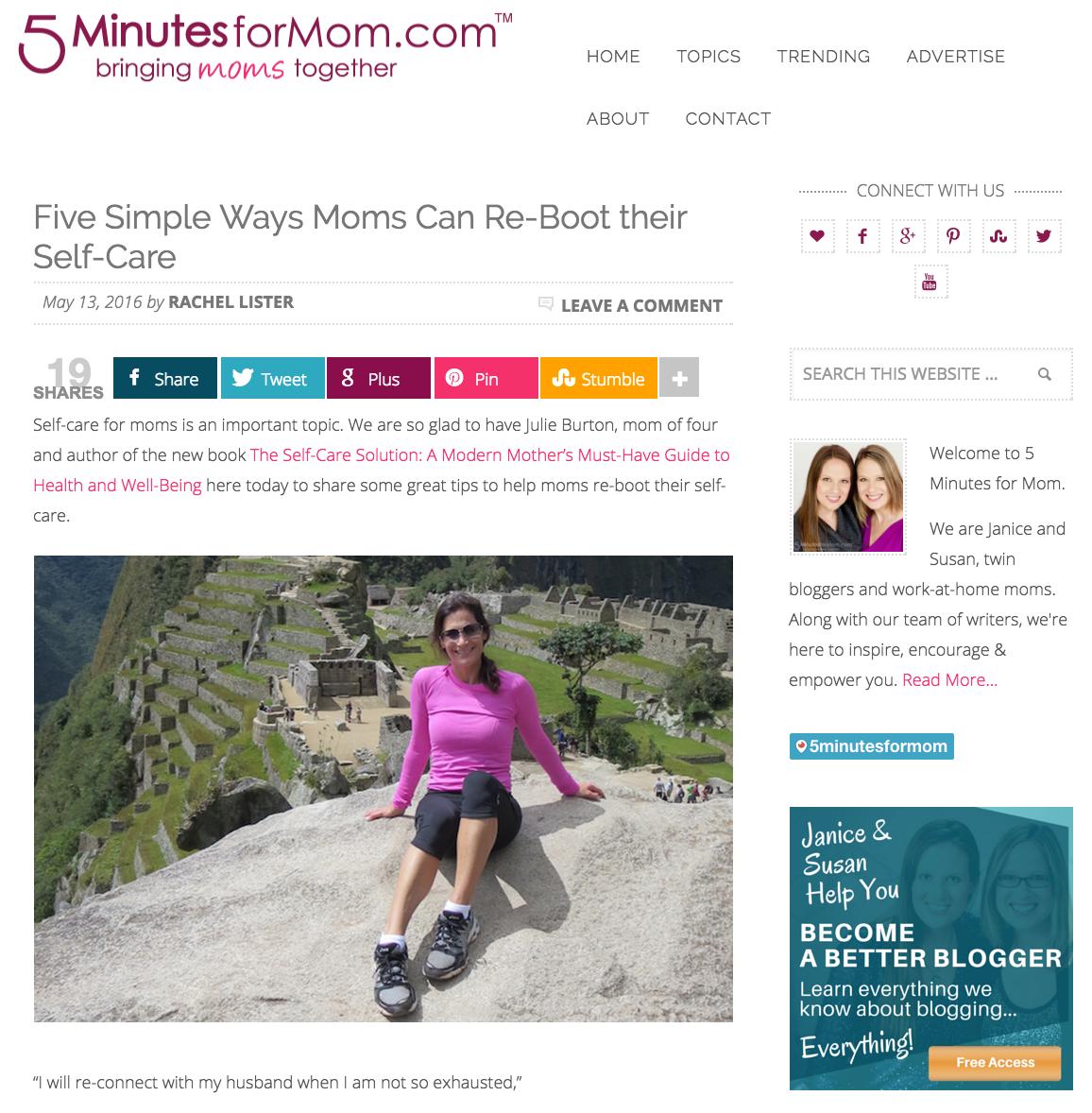 Five-Minutes-For-Mom-Julie-Burton-Self-Care-Solution