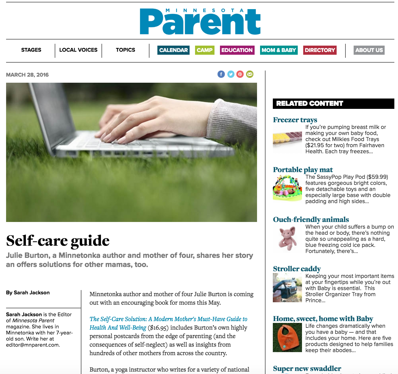 Minnesota-Parent-Julie-Burton-Self-Care-Solution