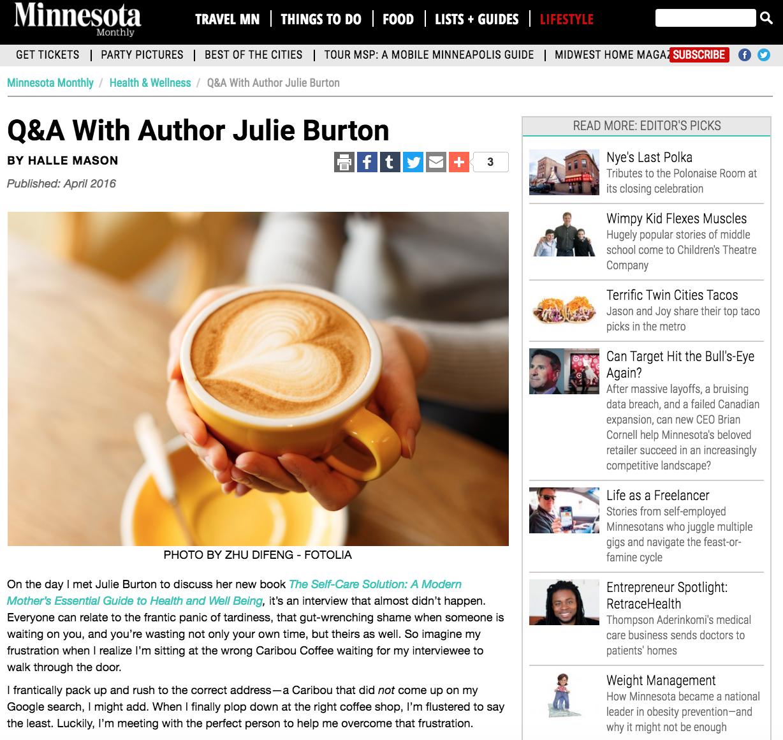 Minnesota-Monthly-Julie-Burton-Self-Care-Solution
