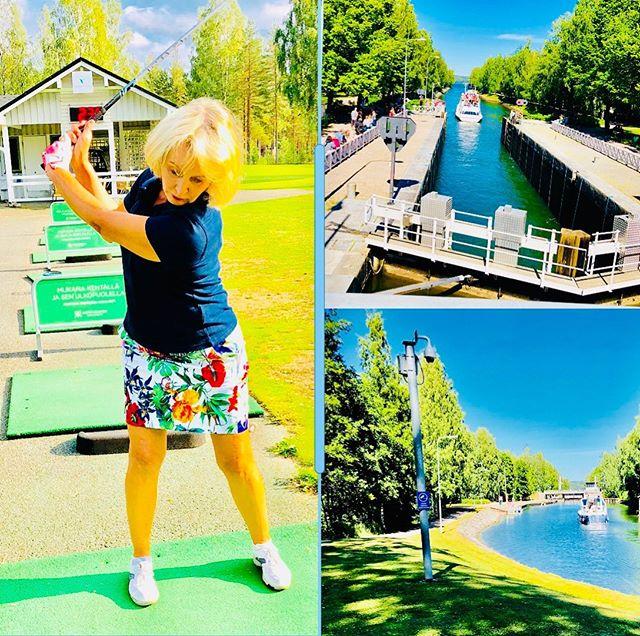 Kesä,golf ja synnyinseudun maisemat☀️👍❤️ Maailmallakin asuneena tämä menee aina ykköseksi🇫🇮 #summer #golf #bestplace #childhoodmemories #childhoodhome #childhoodnostalgia #kanava #vääksy #vääksynkanava #risteilyt #kesäkivaa #summerfun #summerinfinland