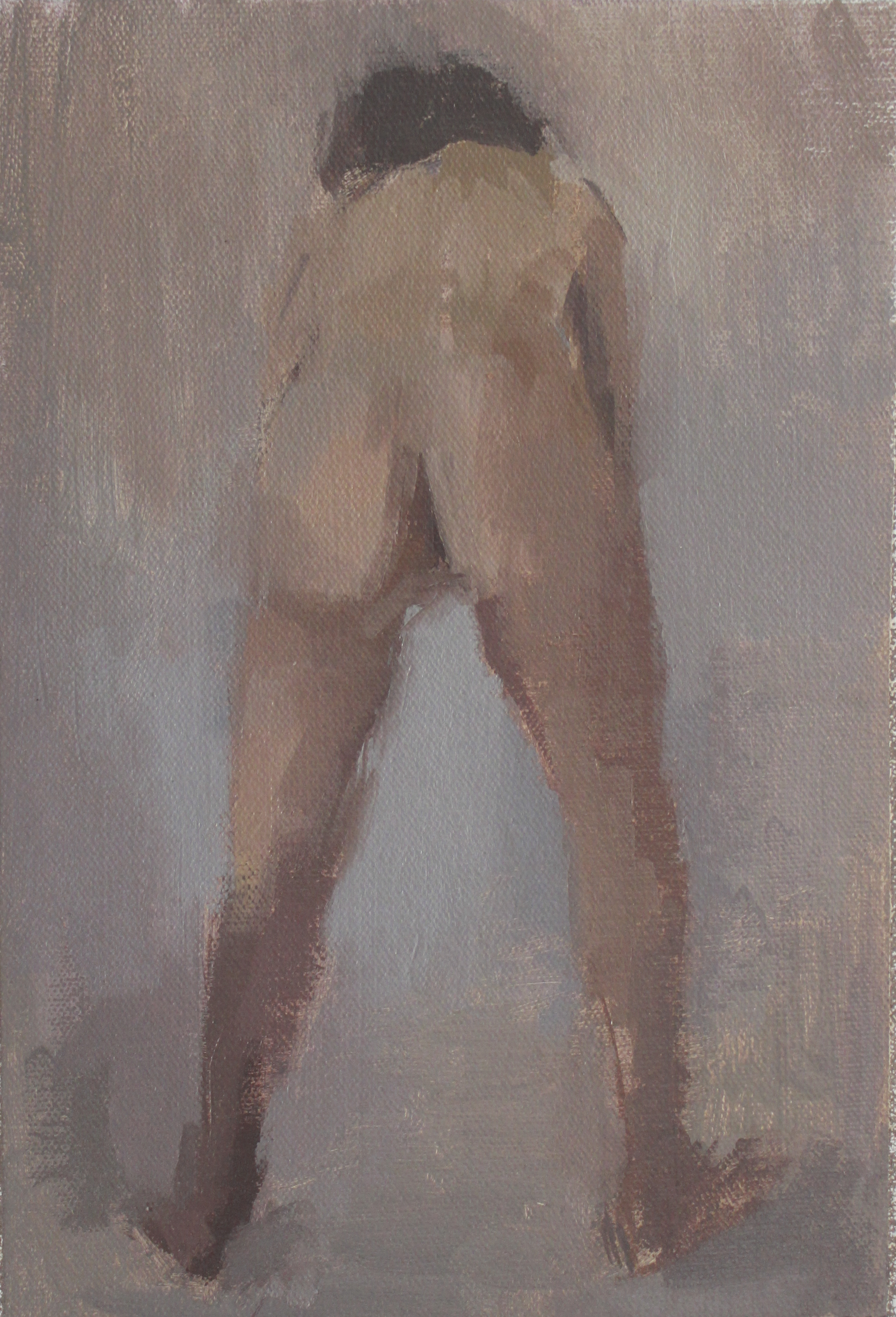 "back  oil on canvas 6x9"" 2012  available"