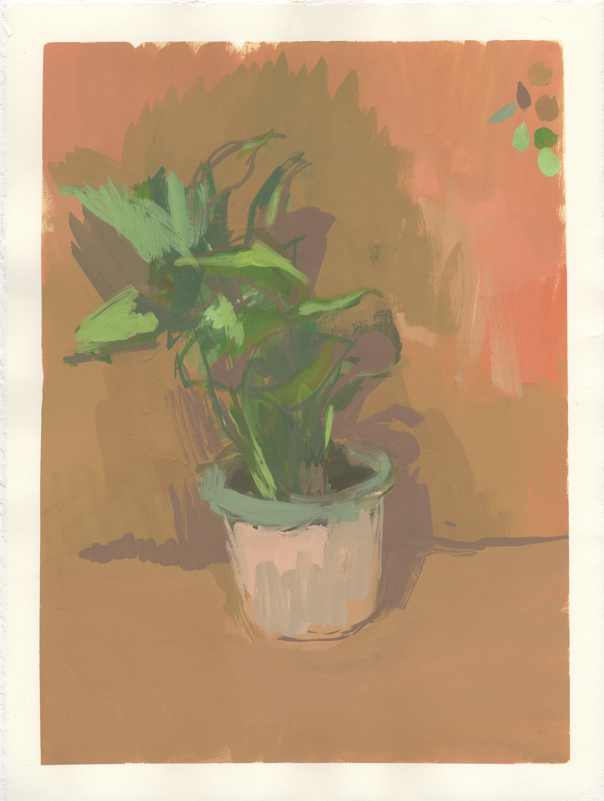 """Ivy   gouache on mounted paper  9.75x13.5""""  2013"""