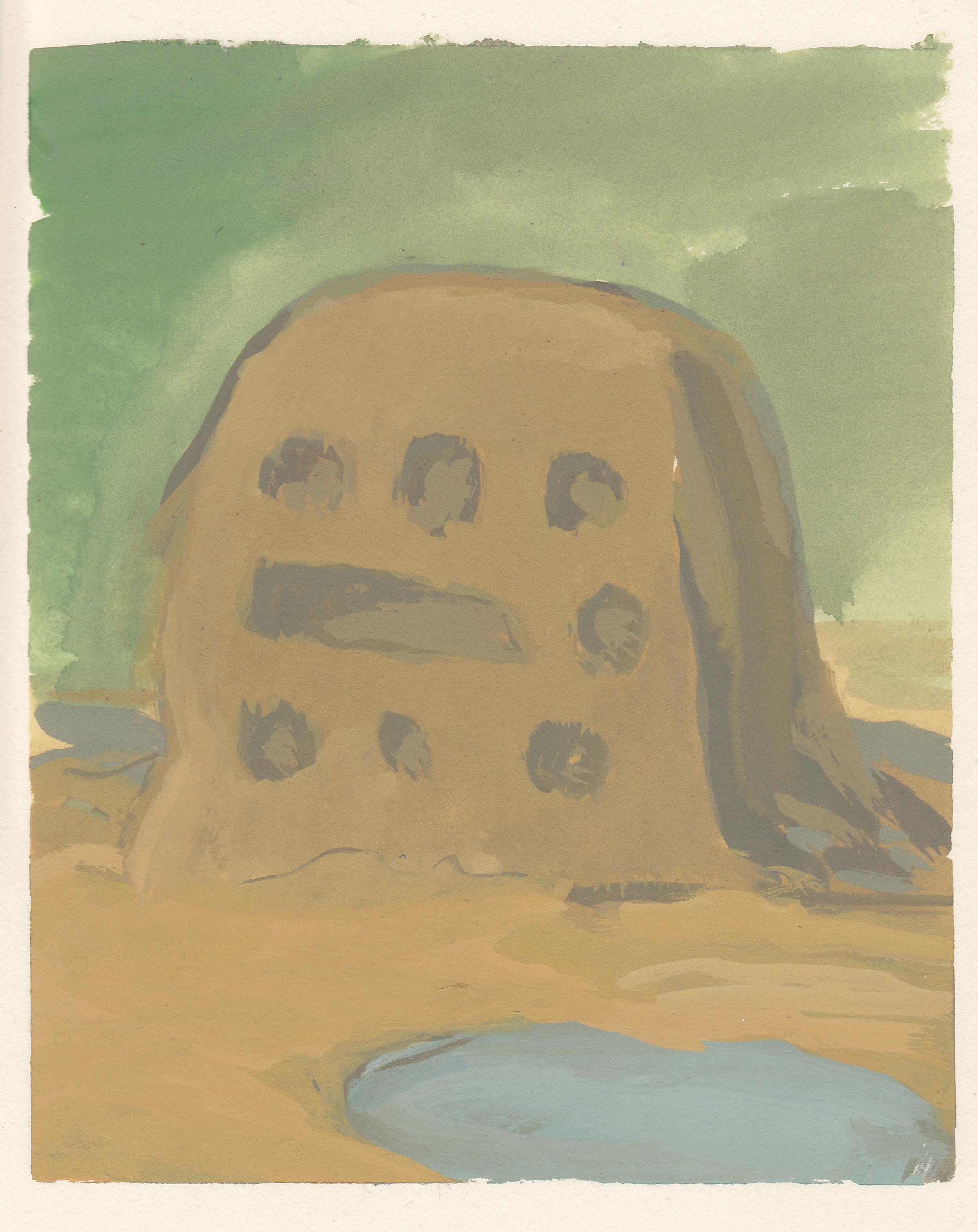 "Bug City   watercolor and gouache  4.5x5.5""  2014"