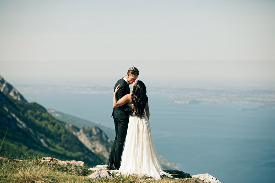 "Veronica & Kyle | Monte Baldo, Lake Garda, Italy - ""My now husband and I used David as our photographer for our May wedding in Lake Garda, he did a phenomenal job! We are so very happy with all of the photos, it wasn't awkward posing like most photographers ask, it was very in the moment go with the flow, which is very much Kyle and I. David was very professional and timely, defiantly captured a monumental moment of our lives!"""