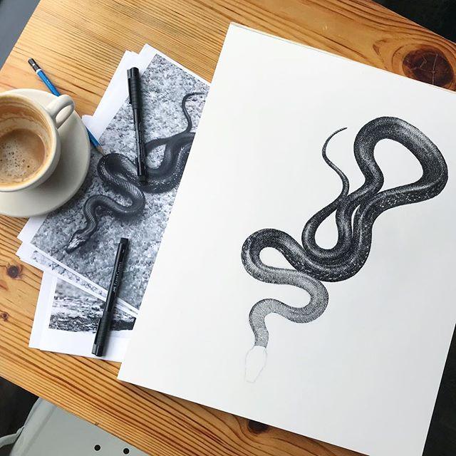 ink & coffee. #hikertrash #wip