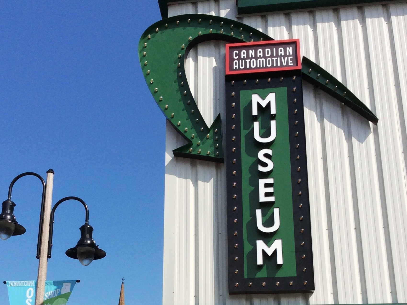 A new front sign for the Canadian Automotive Museum will attract more visitors.