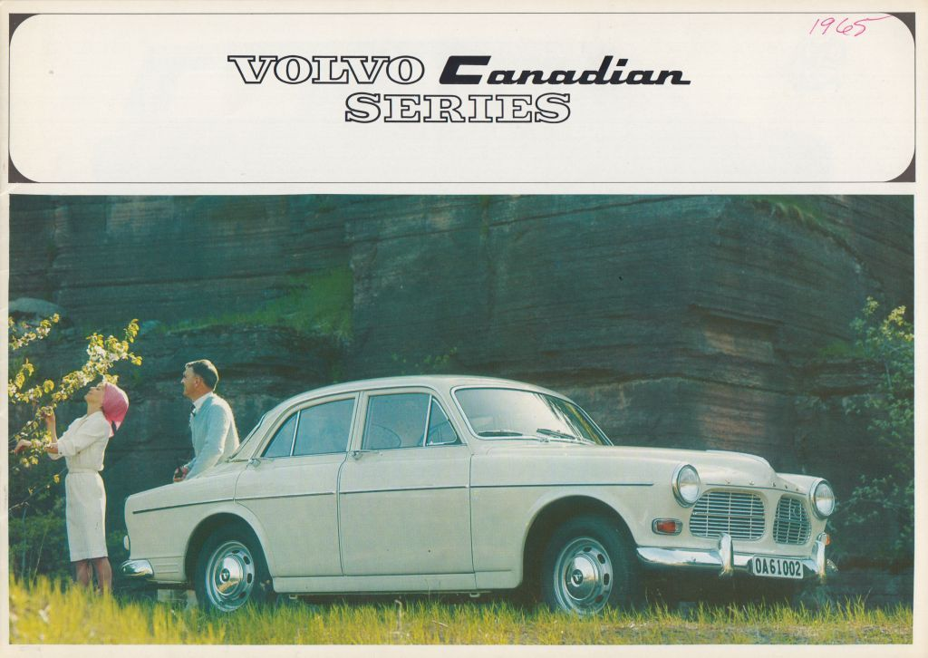 1965 Volvo Canadian - In 1963 Volvo of Sweden set up its first overseas assembly plant in Dartmouth, N.S. The plant, which later moved to Halifax, produced the signature Volvo Canadian during the 1960s and early 1970s.Cover of a Volvo Canadian brochure, 1965. Collection of the Canadian Automotive Museum.