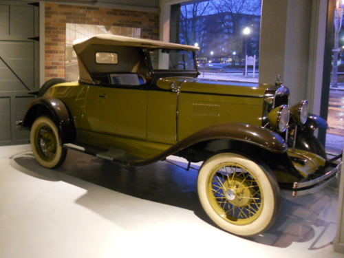 - This 1929 Chevrolet Roadster was built at the General Motors plant that produced vehicles in Regina, Saskatchewan periodically from 1928 until 1941. It was the first car mass-produced for working class people to feature a 6-cylinder engine. Come into the Canadian Automotive Museum to learn more about what makes this car a stand-out vehicle.