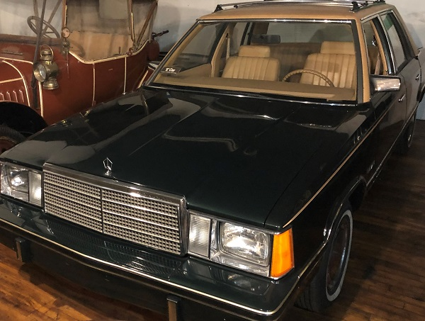 """- This 1981 Plymouth Reliant, known as a """"K-Car"""", was introduced alongside the Dodge Aries in 1981 in an effort to move Chrysler out of a serious financial crisis. Our model is a """"mule""""- the first car made on the assembly line. Can you spot the defect in this car? Come into the Canadian Automotive Museum today to see for yourself, and learn how the K-Car saved Chrysler."""