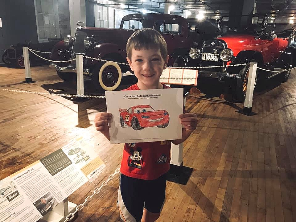 Kids will enjoy activities and hands-on elements in the Canadian Automotive Museum.