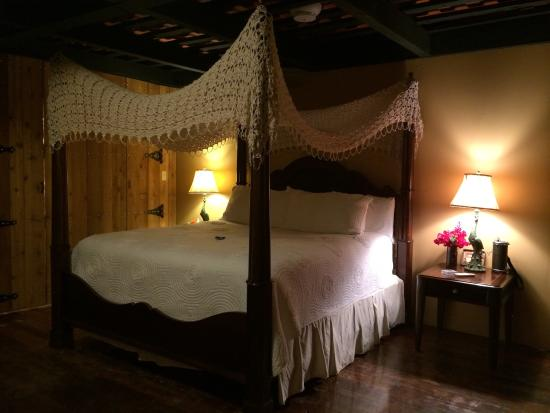 Let your worries slip away in one of the Hacienda's many canopy beds.