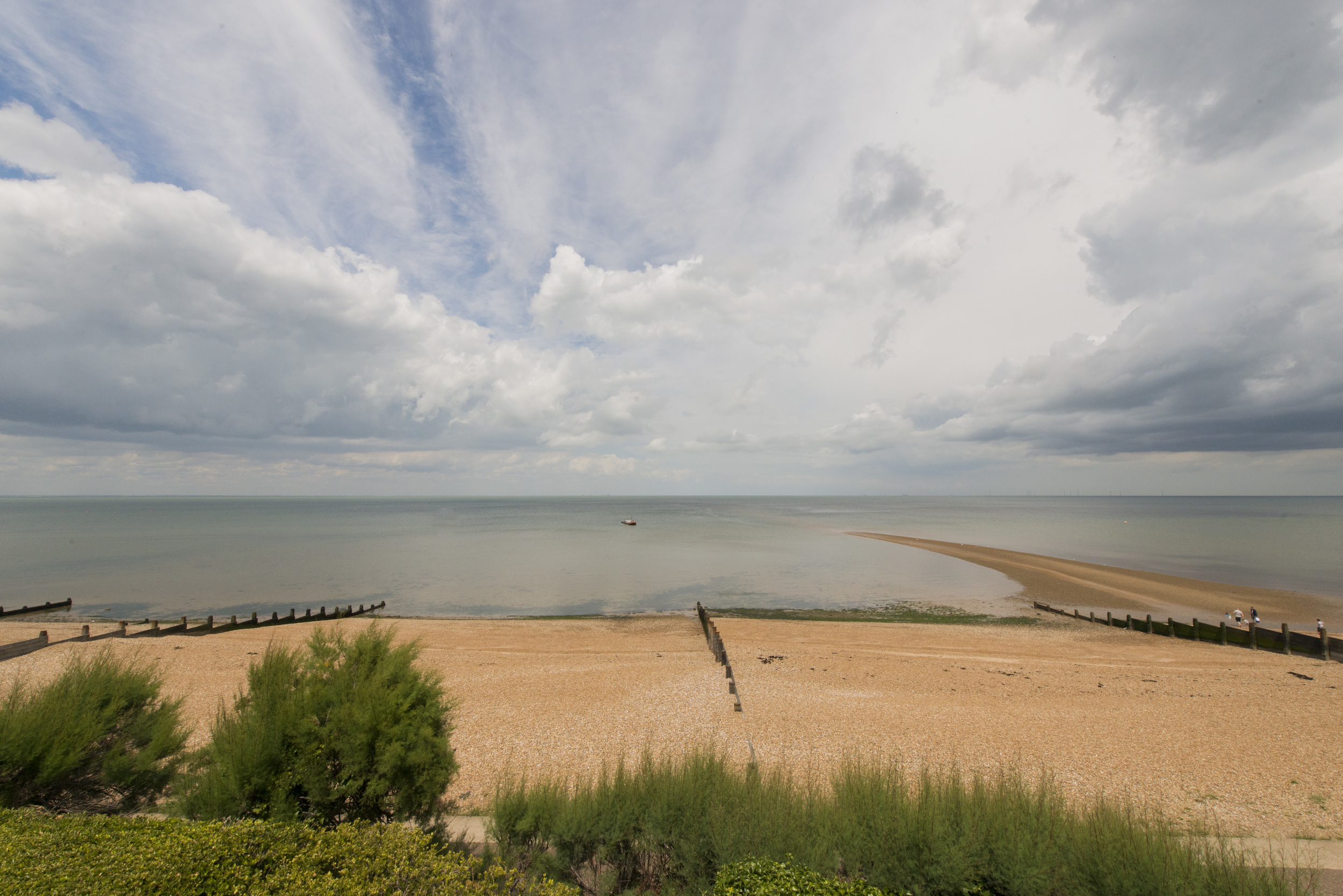 View of the beach from the front garden