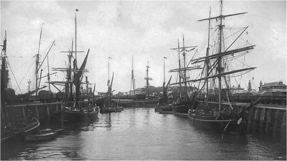 Whitstable harbour circa 1880