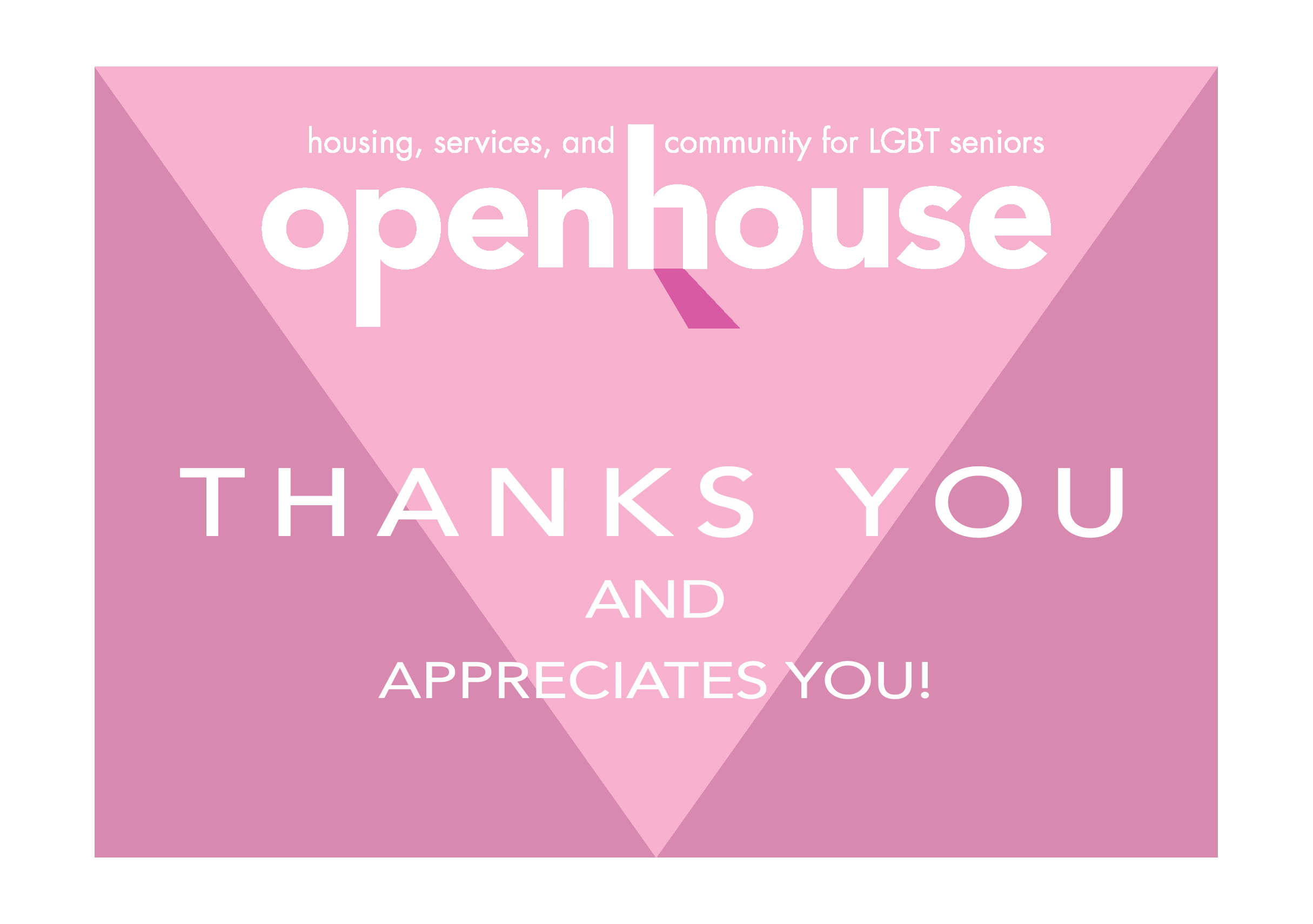 First thank you card template I created for Openhouse.