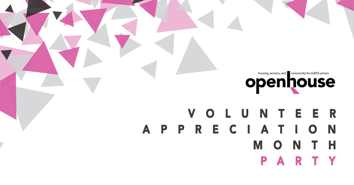 Facebook event page banner for the    Volunteer Appreciation Month Party at Openhouse   .