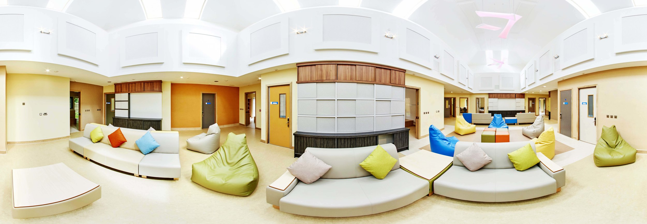 The Irwin Unit - Birmingham childrens hospital  Following a £2m renovation I was asked to produce a 360 tour at the Irwin Unit for c hildren and young people who are treated for eating disorders. The brighter and more spacious surroundings made for great location, perfect for a 360 tour.