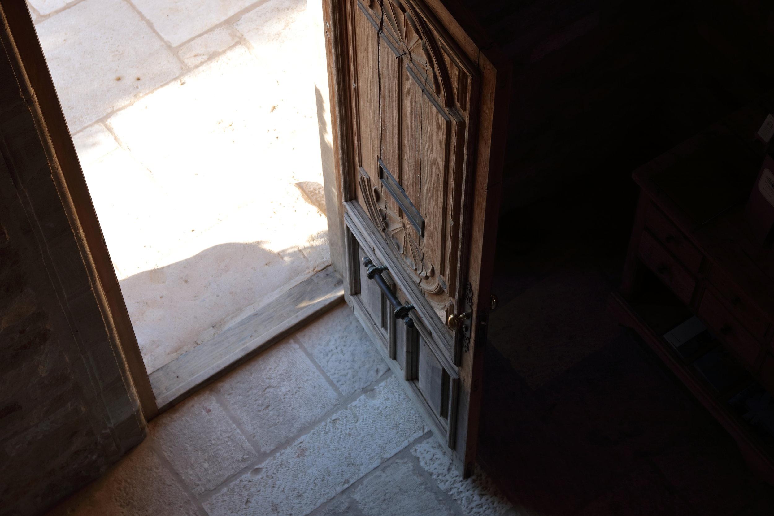 Sunstone front door ajar.JPG