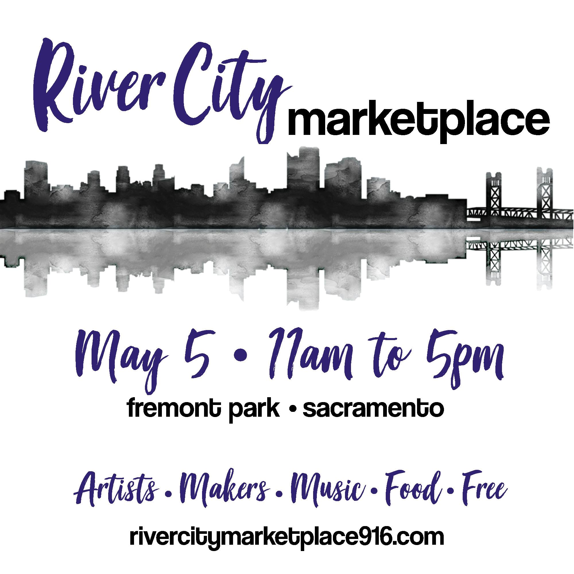 Shop local, support art, handmade goods and small businesses of Sacramento. River City Marketplace will be hosting over 100 vendors on Cinco De Mayo at Fremont Park. Enjoy live music and local bites while you shop, and see what Sacramento's talent has to offer.