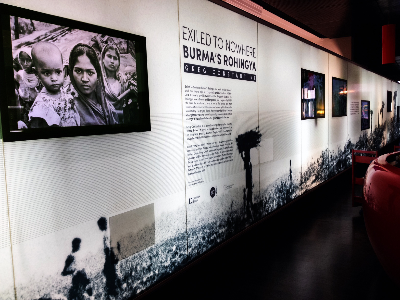 Exiled To Nowhere: Burma's Rohingya exhibition, Customs House - Sydney, Australia 2016